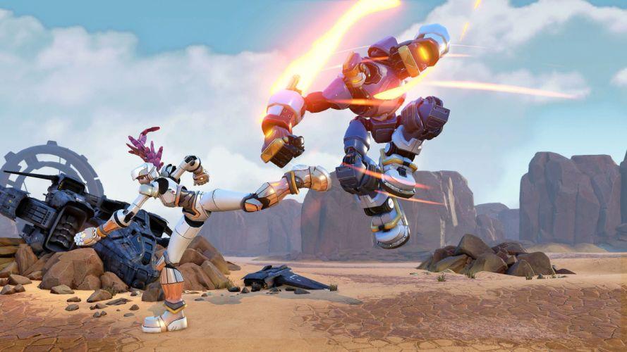 RISING THUNDER fighting action sci-fi mecha robot 1rthu online wallpaper