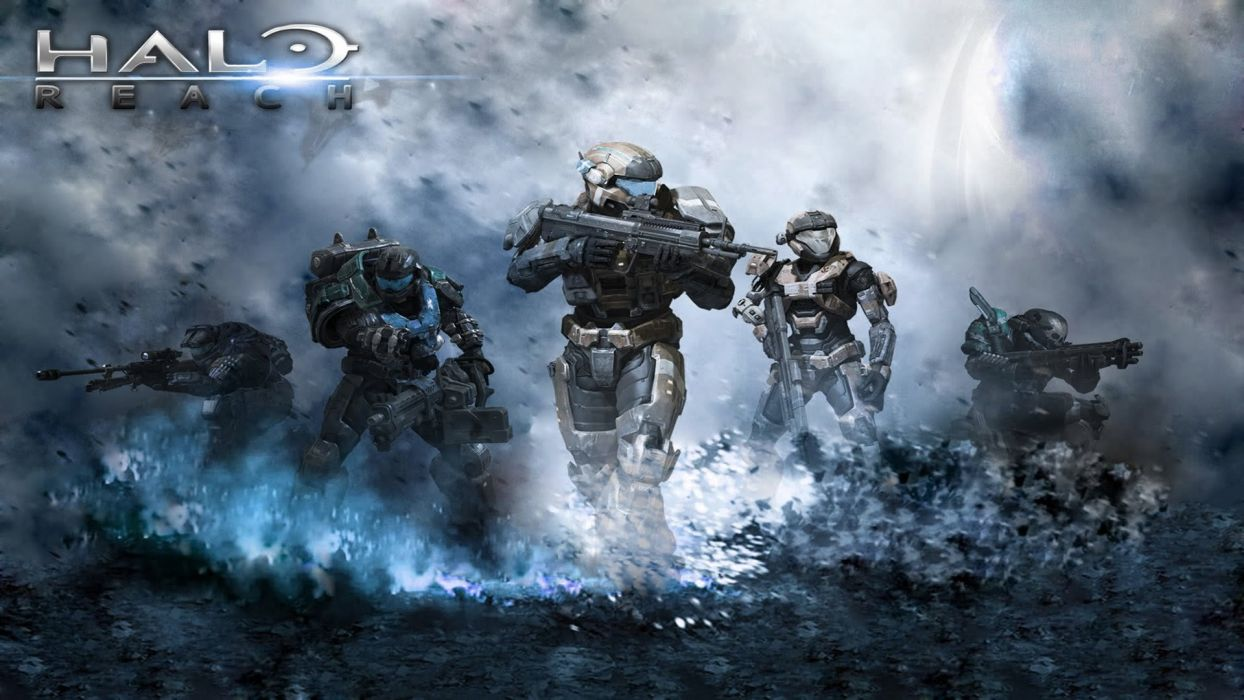 HALO shooter fps action fighting warrior sci-fi futuristic wallpaper
