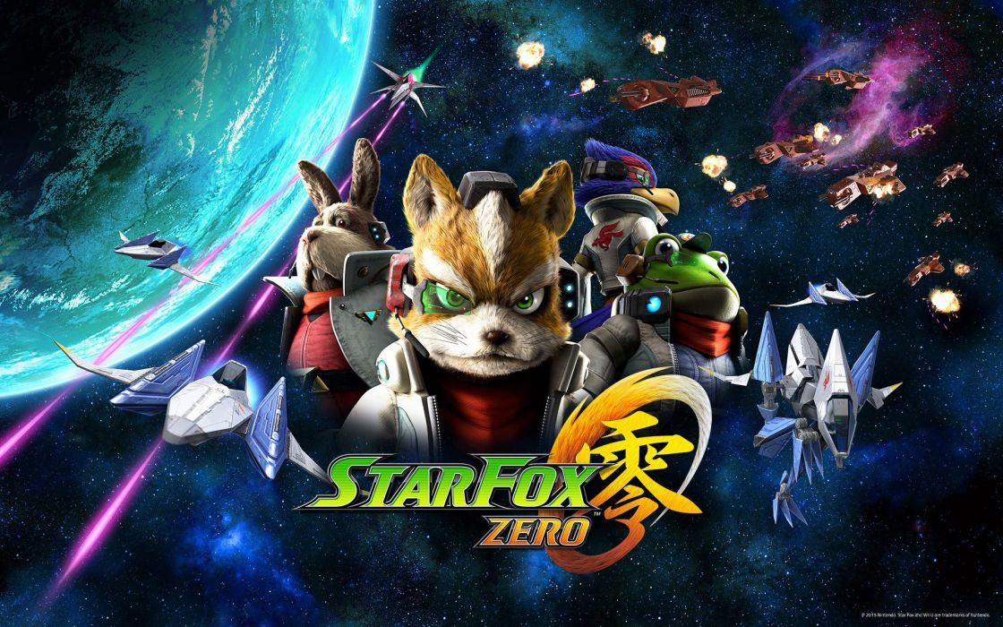 STAR FOX ZERO Suta Fokkusu Zero acion fighting 1sfz sci-fi futuristic nintendo scrolling wallpaper