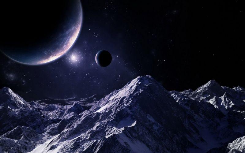 planeta alienigena sci-fi abstracto wallpaper