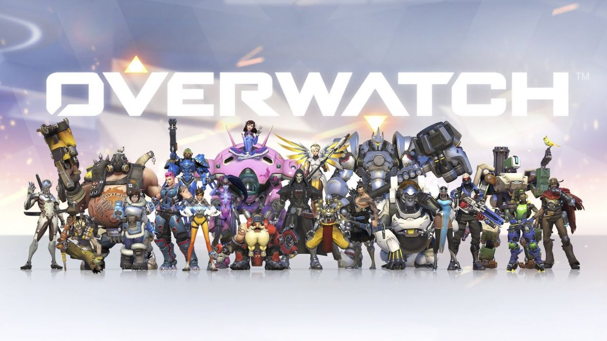OVERWATCH shooter action fighting mecha sci-fi strategy wallpaper