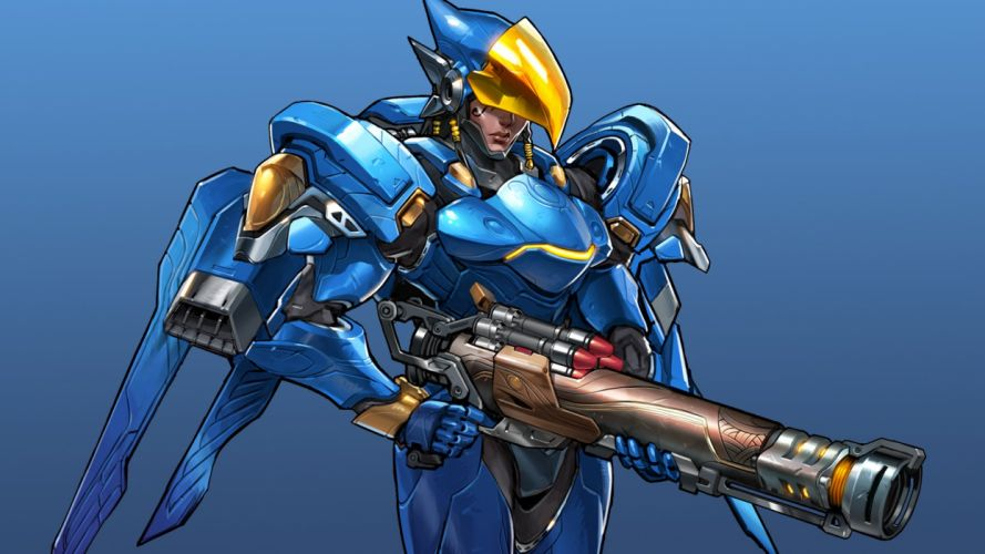OVERWATCH shooter action fighting mecha sci-fi strategy warrior wallpaper