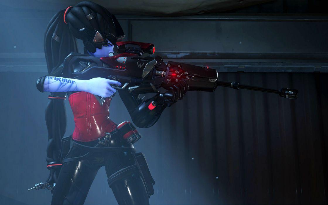 OVERWATCH shooter action fighting mecha sci-fi strategy warrior wallpaper