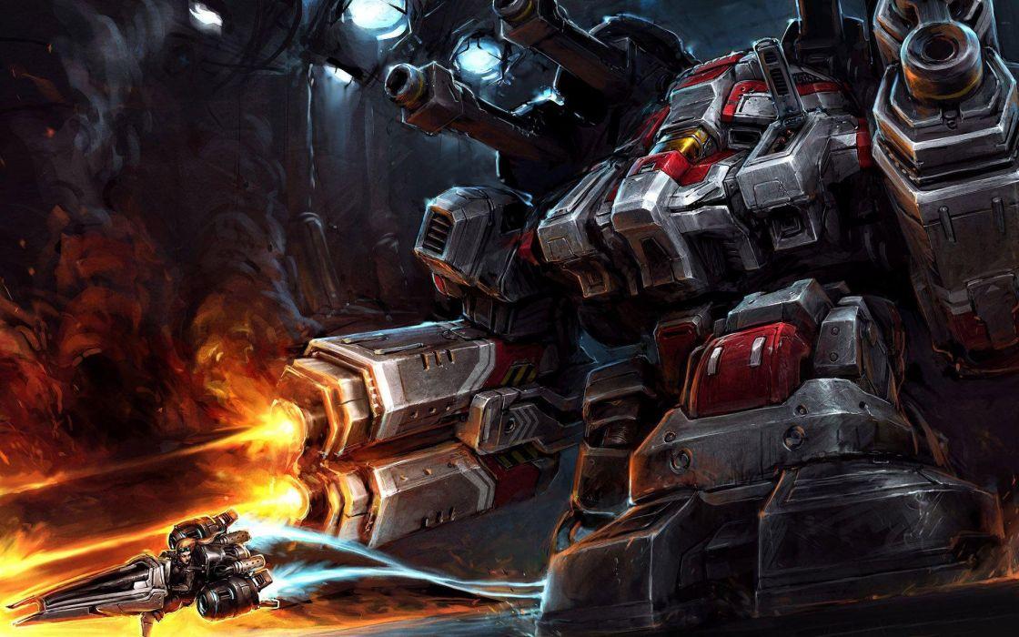 STARCRAFT military sci-fi futuristic rts strategy warrior wallpaper