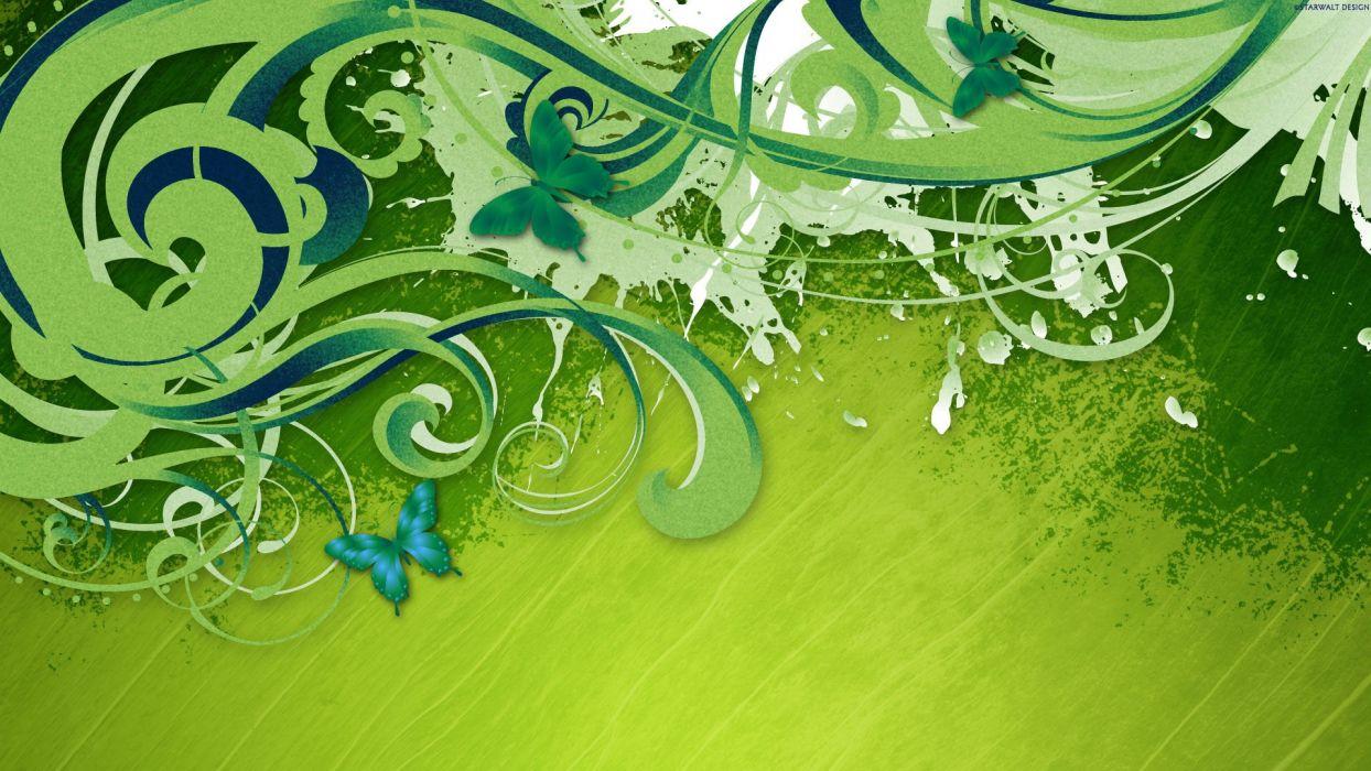abstracto vector verde wallpaper