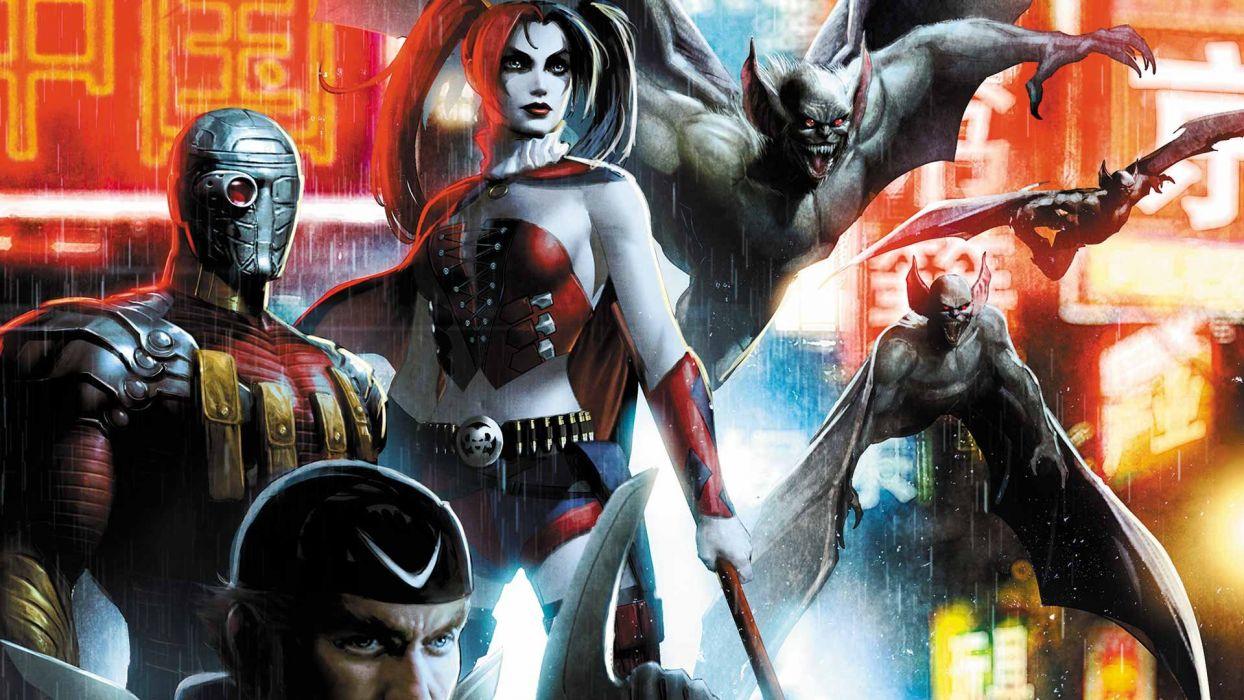 SUICIDE SQUAD action superhero dc-comics d-c action fighting mystery comics harley quinn wallpaper