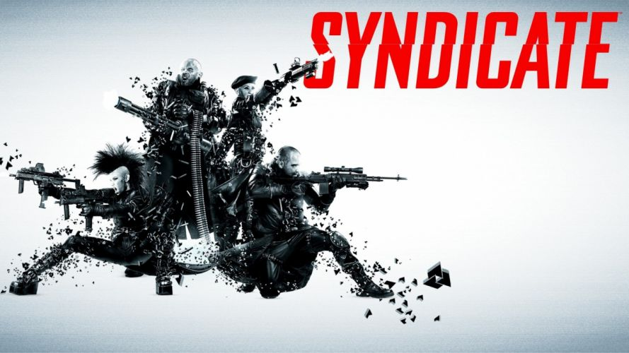 SYNDICATE cyberpunk shooter sci-fi action fighting crime spy tactical poster wallpaper
