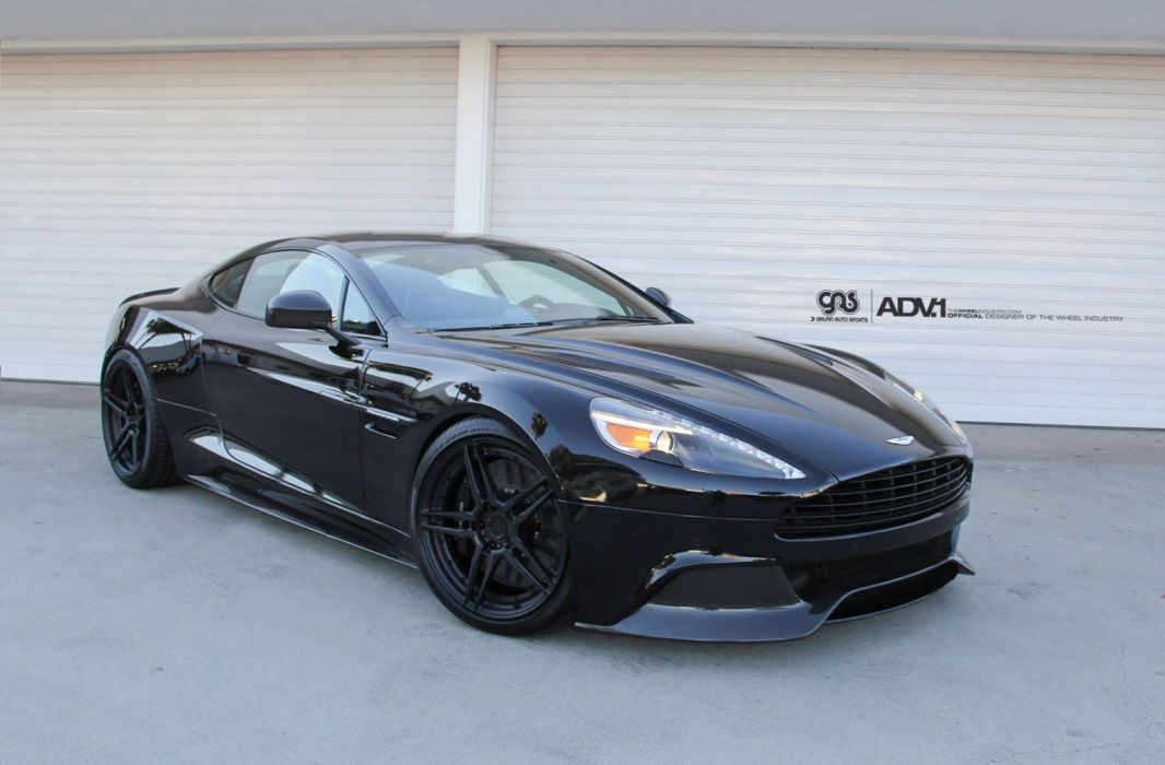 Aston Martin Vanquish cars black wallpaper