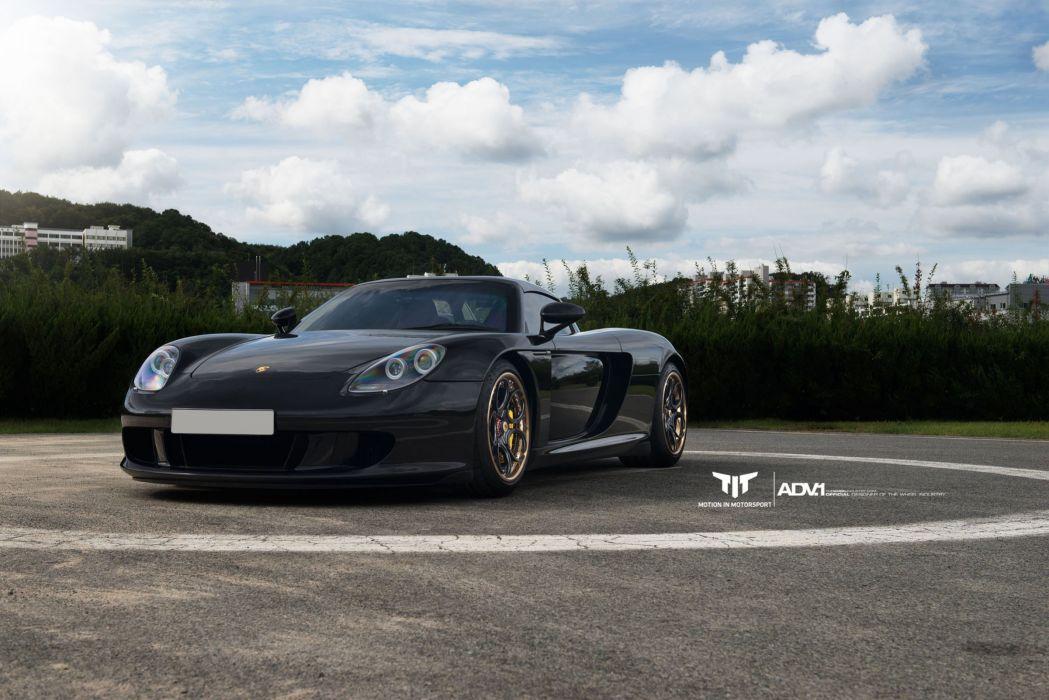 Porsche Carrera GT cars black wallpaper