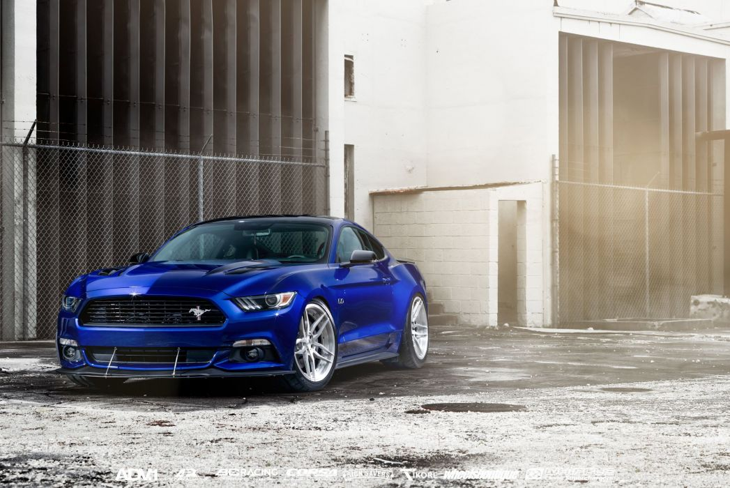 ford Mustang GT 2016 cars coupe blue wallpaper