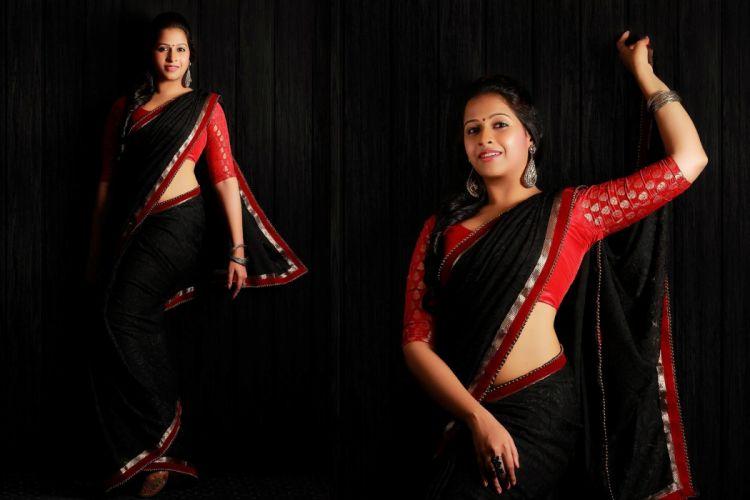 Sadhika Venugopal bollywood actress model girl beautiful brunette pretty cute beauty sexy hot pose face eyes hair lips smile figure indian saree sari wallpaper