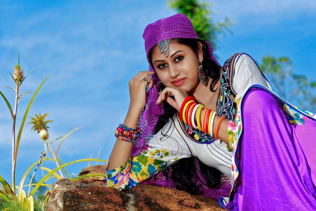 Maria John bollywood actress model girl beautiful brunette pretty cute beauty sexy hot pose face eyes hair lips smile figure indian  wallpaper