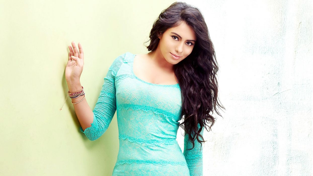 Deepa Sannidhi bollywood actress model girl beautiful brunette pretty cute beauty sexy hot pose face eyes hair lips smile figure indian  wallpaper