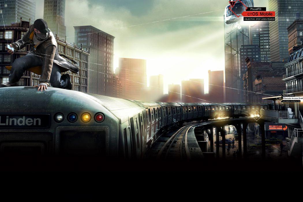 WATCH DOGS futuristic cyberpunk warrior action fighting 1wdogs adventure shooter watchdogs wallpaper