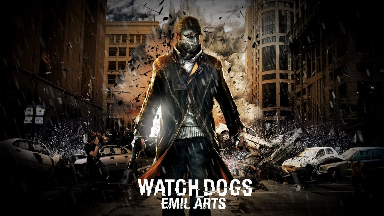 WATCH DOGS futuristic cyberpunk warrior action fighting 1wdogs adventure shooter watchdogs poster wallpaper