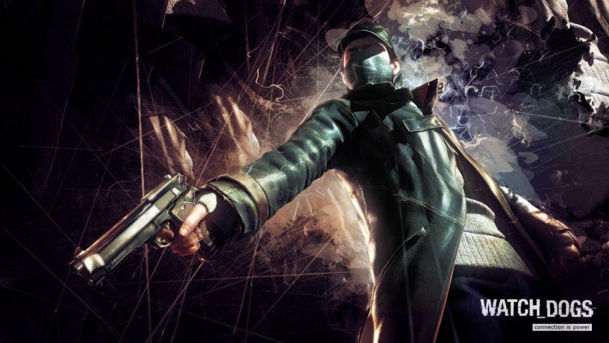 WATCH DOGS futuristic cyberpunk warrior action fighting 1wdogs adventure shooter sci-fi watchdogs wallpaper