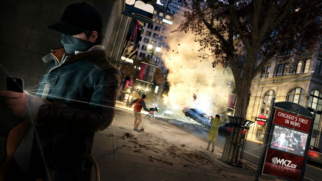 WATCH DOGS futuristic cyberpunk warrior action fighting 1wdogs adventure shooter sci-fi watchdogs wallpaper