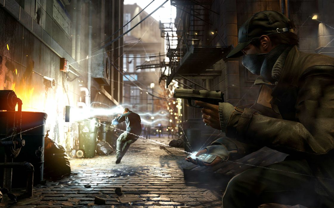 Watch Dogs Futuristic Cyberpunk Warrior Action Fighting