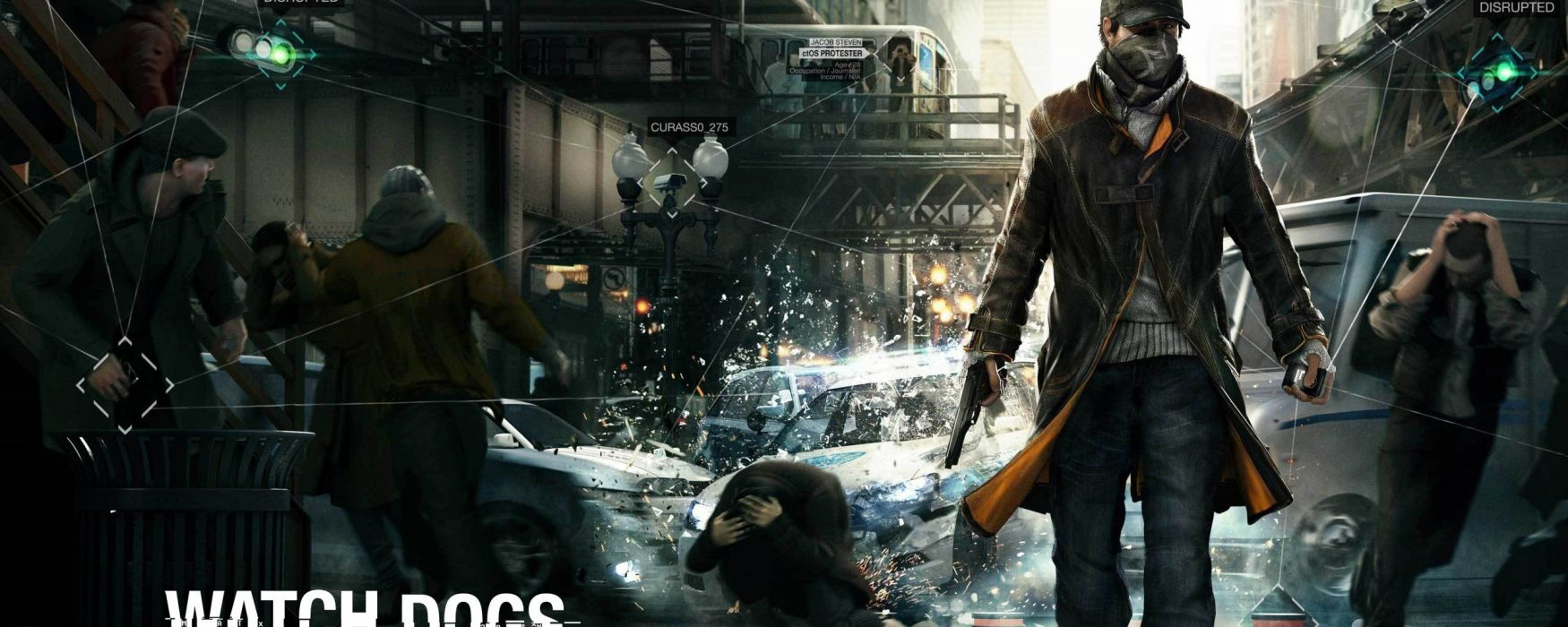 WATCH DOGS futuristic cyberpunk warrior action fighting 1wdogs adventure shooter sci-fi watchdogs poster wallpaper