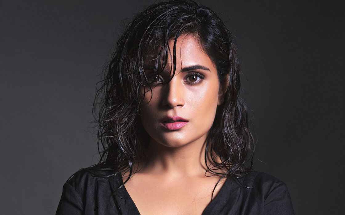 richa chadda bollywood actress model girl beautiful brunette pretty cute beauty sexy hot pose face eyes hair lips smile figure indian  wallpaper