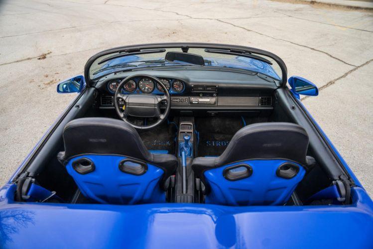Porsche 964 Speedster Strosek cars blue wallpaper