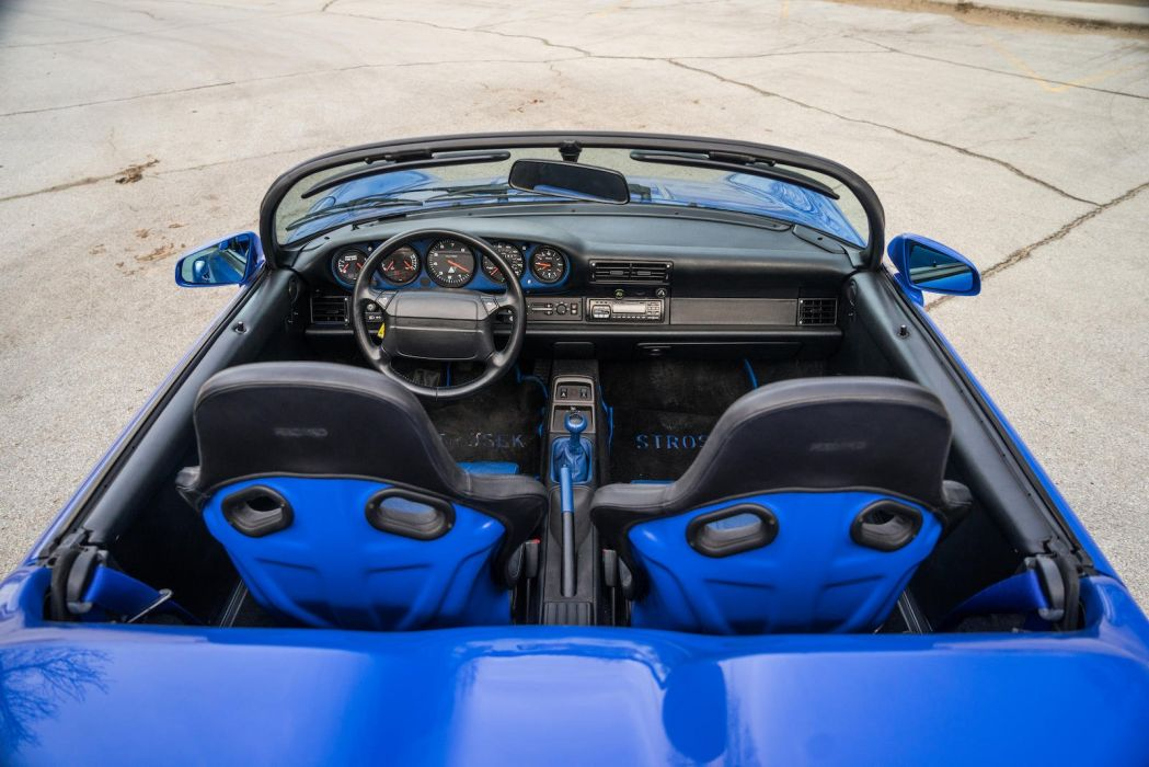 Porsche 964 Speedster Strosek cars blue wallpaper
