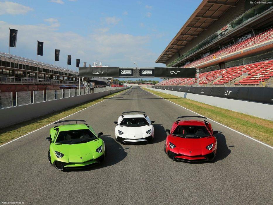 2016 Aventador cars Coupe Lamborghini LP750-4 supercars green wallpaper