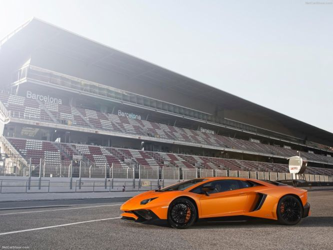 2016 Aventador cars Coupe Lamborghini LP750-4 supercars orange wallpaper