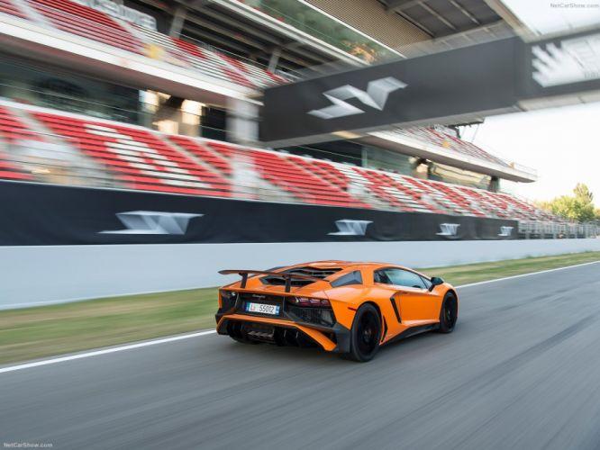 2016 Aventador cars Coupe Lamborghini LP750-4 supercars orange wallpaper