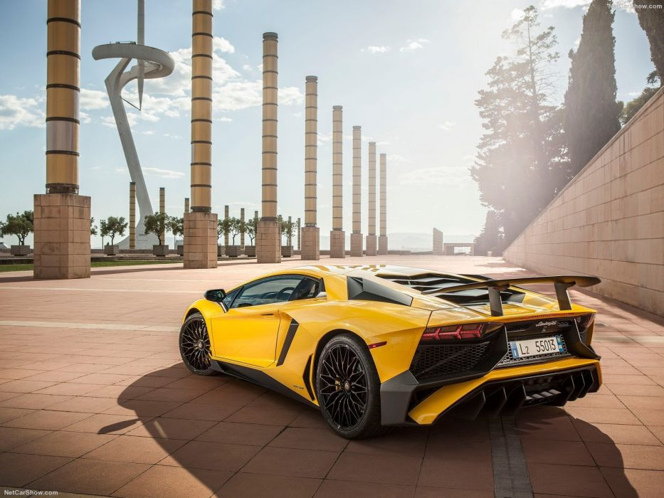 2016 Aventador cars Coupe Lamborghini LP750-4 supercars yellow wallpaper