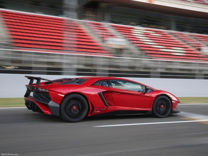2016 Aventador cars Coupe Lamborghini LP750-4 supercars red wallpaper