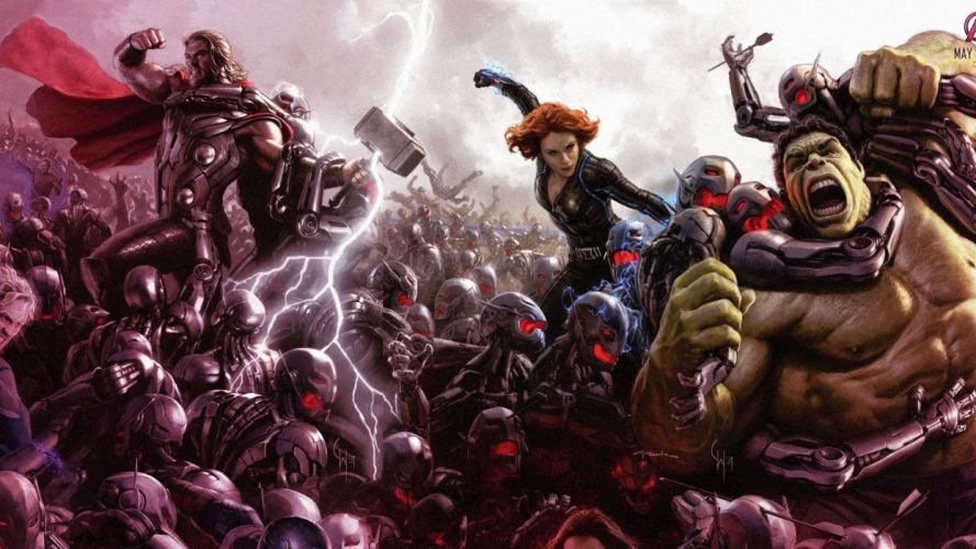 AVENGERS AGE ULTRON marvel comics superhero ageultron action adventure fighting wallpaper