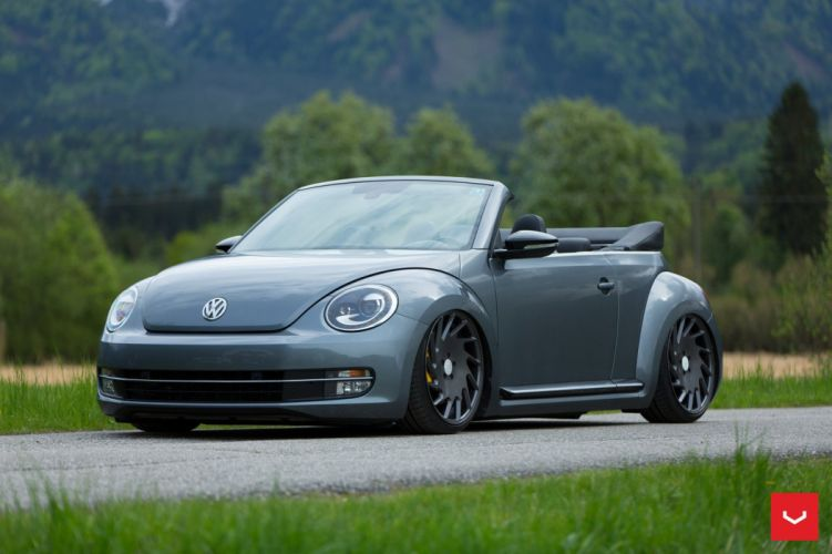 Volkswagen Beetle convertible Vossen Wheels cars wallpaper