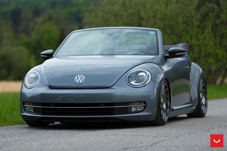 Volkswagen Beetle convertible Vossen Wheels cars wallpaper