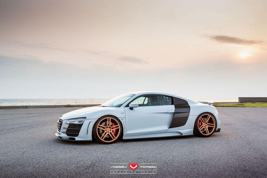 Audi R8 V10 Vossen Wheels cars wallpaper