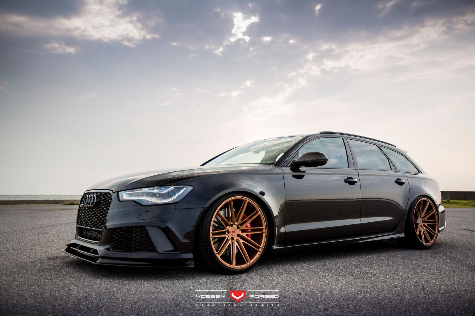 Audi Rs6 Avant Vossen Wheels Cars Black Wallpaper