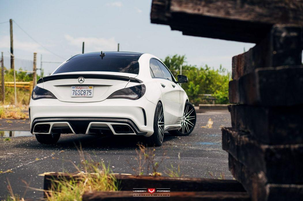 Mercedes CLA Vossen Wheels cars white wallpaper