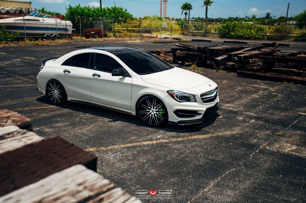Mercedes CLA Vossen Wheels cars white wallpaper