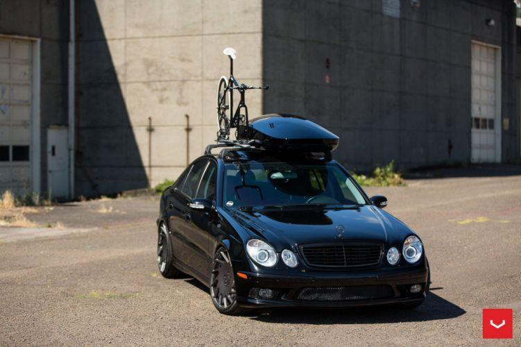 Mercedes Benz E55 sedan Vossen Wheels cars black wallpaper