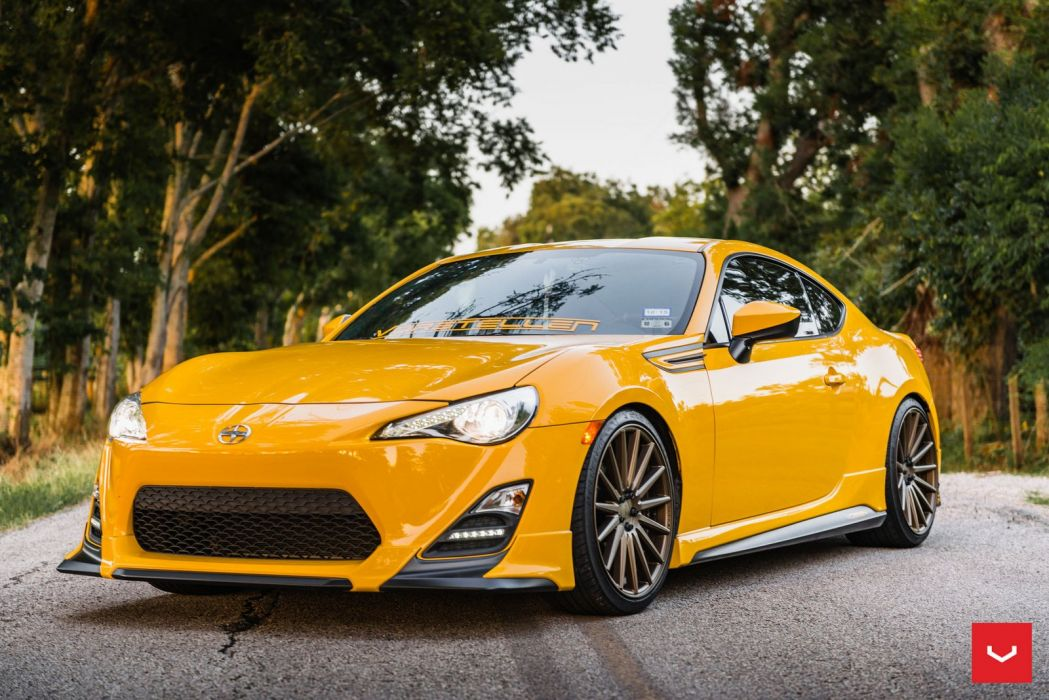 Scion FRS coupe Vossen Wheels cars yellow wallpaper