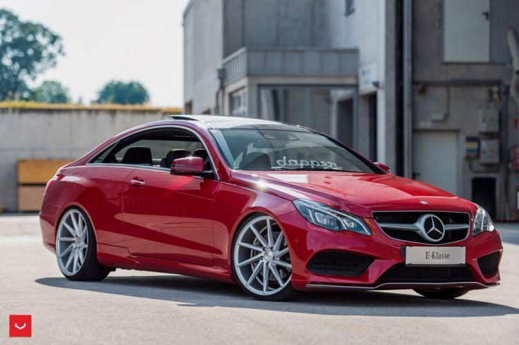 Mercedes Benz E-Class coupe Vossen Wheels cars red wallpaper