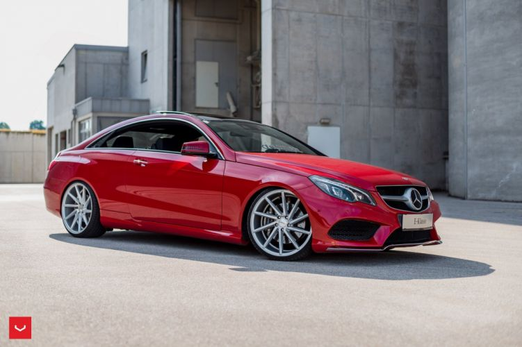 Mercedes Benz E-Class coupe Vossen Wheels cars red wallpaper