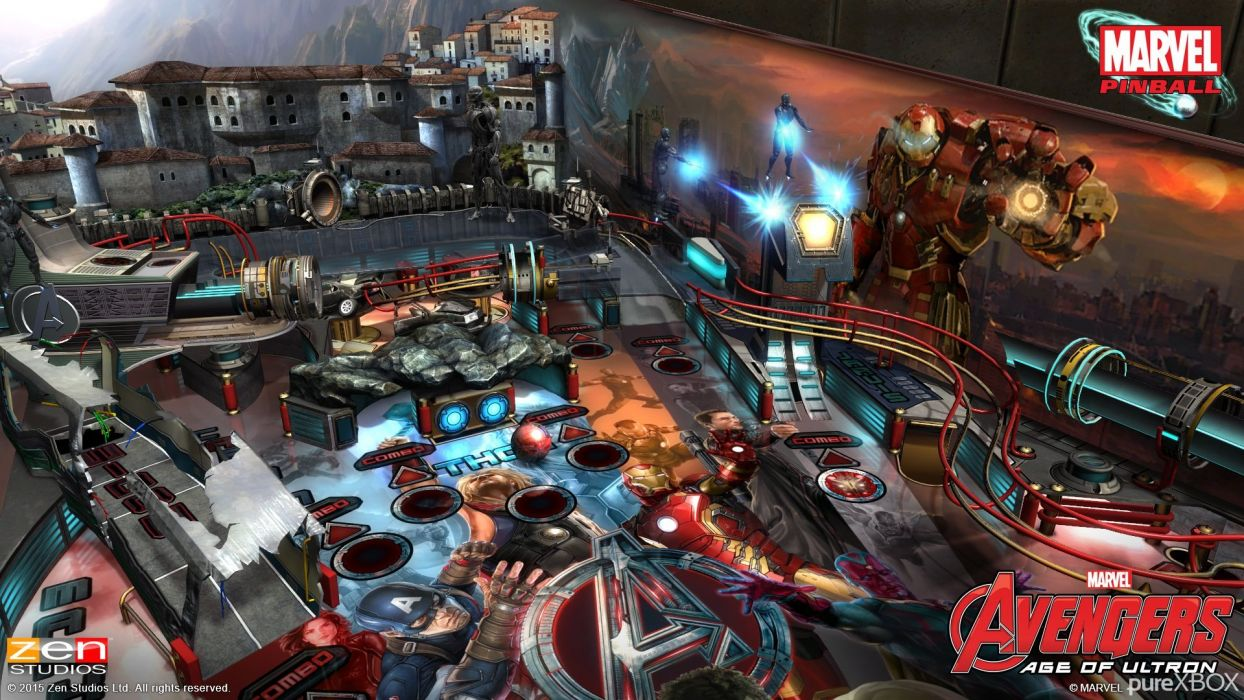 AVENGERS AGE ULTRON marvel comics superhero ageultron action adventure fighting warrior poster pinball wallpaper