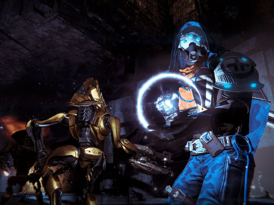 DESTINY sci-fi shooter fps action fighting futuristic warrior fantasy mmo online rpg wallpaper