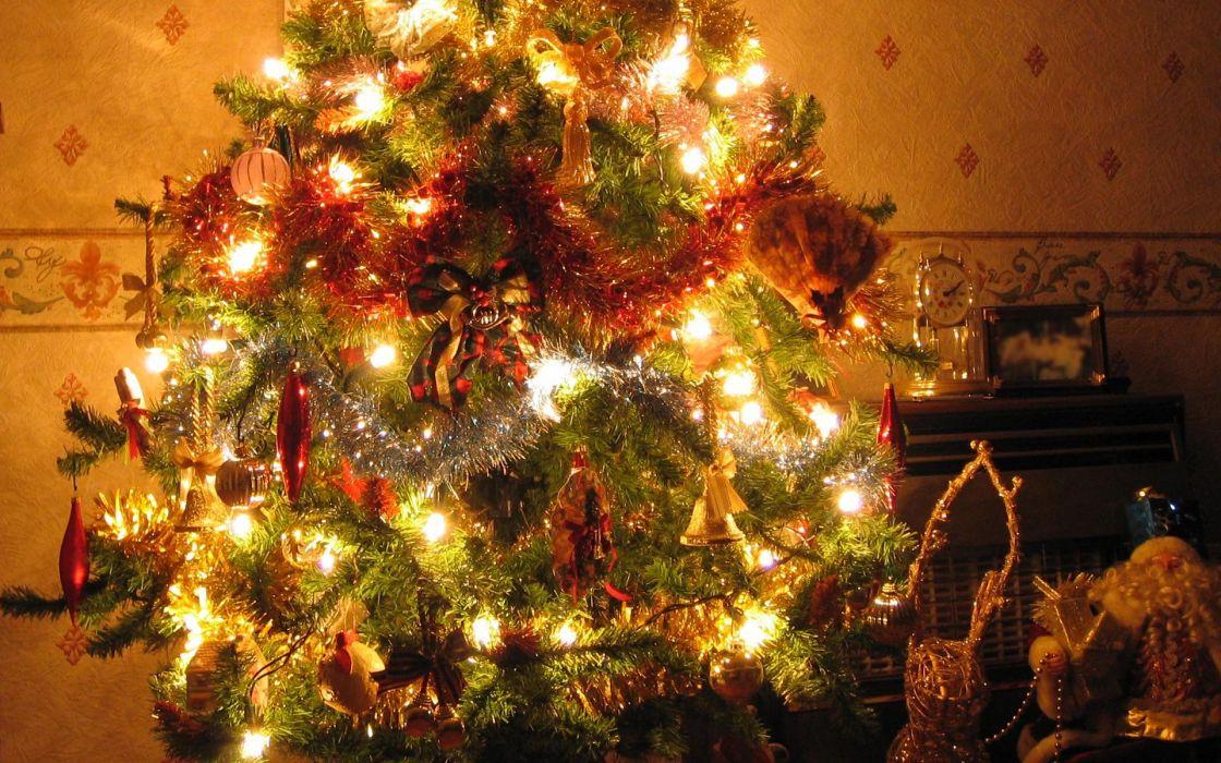 arbol navidad adornos luces wallpaper
