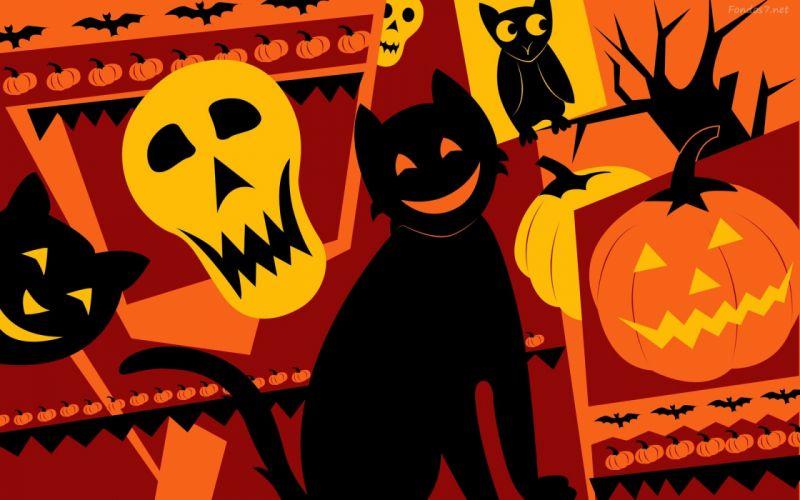 gato negro halloween wallpaper