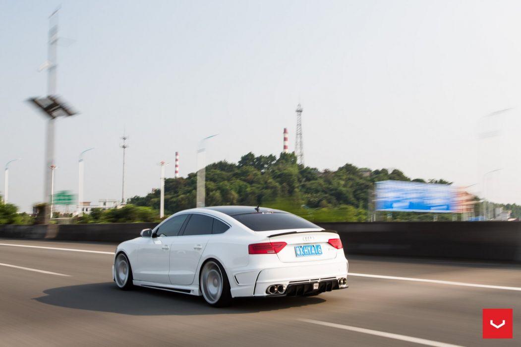 Vossen Wheels Audi S5 Sportback cars white wallpaper