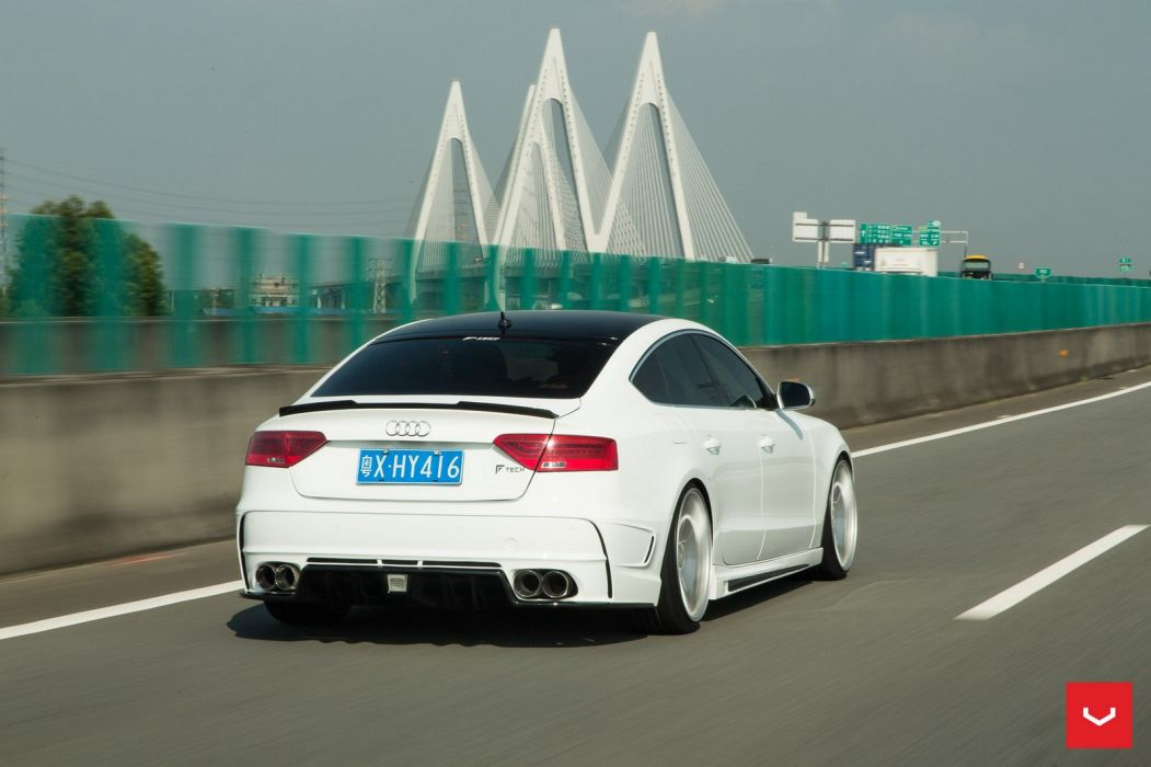 Vossen Wheels Audi S5 Sportback cars white wallpaper
