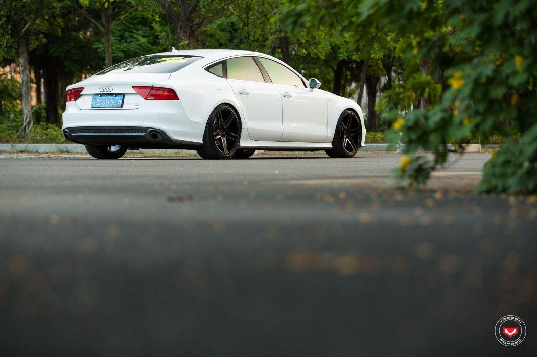 Vossen Wheels Audi a7 Sportback cars white wallpaper