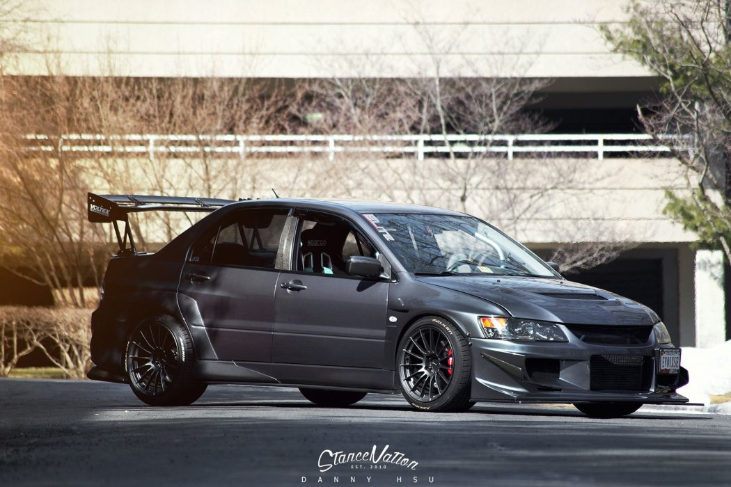 Mitsubishi Evo-9 cars sedan modified wallpaper
